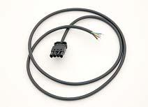 4-pole gesis connector with cable - male